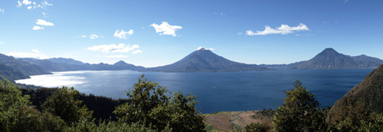 Panoramic picture of Lake Atitlan, Guatemala